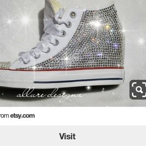 d3dffe0ed45e Converse   Swarovski Shoes on Poshmark